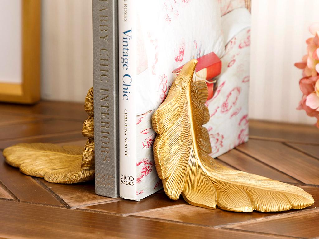 Pureness Bookend 25x10,5x13 Cm Gold