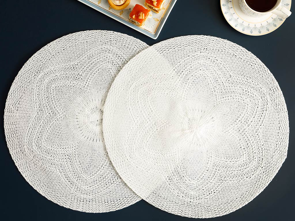 Fall Place Mat 2 Piece 38 Cm Gray