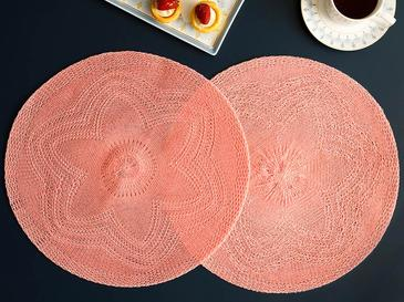 Fall Place Mat 2 Piece 38 Cm Pink