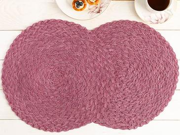 Ramona Polyester Place Mat 2 Piece 38 cm Purple