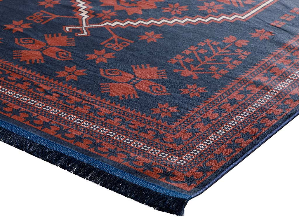 Siena Carpet 120x180 cm Red - Navy Blue