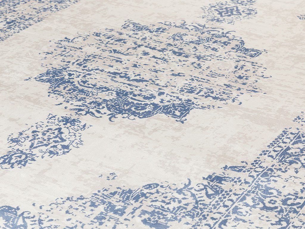 Elmina Velvet Carpet 120x180 Cm Navy Blue