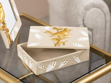Garden Birds Decorative Box 16,5x11,7x5 Cm Beige