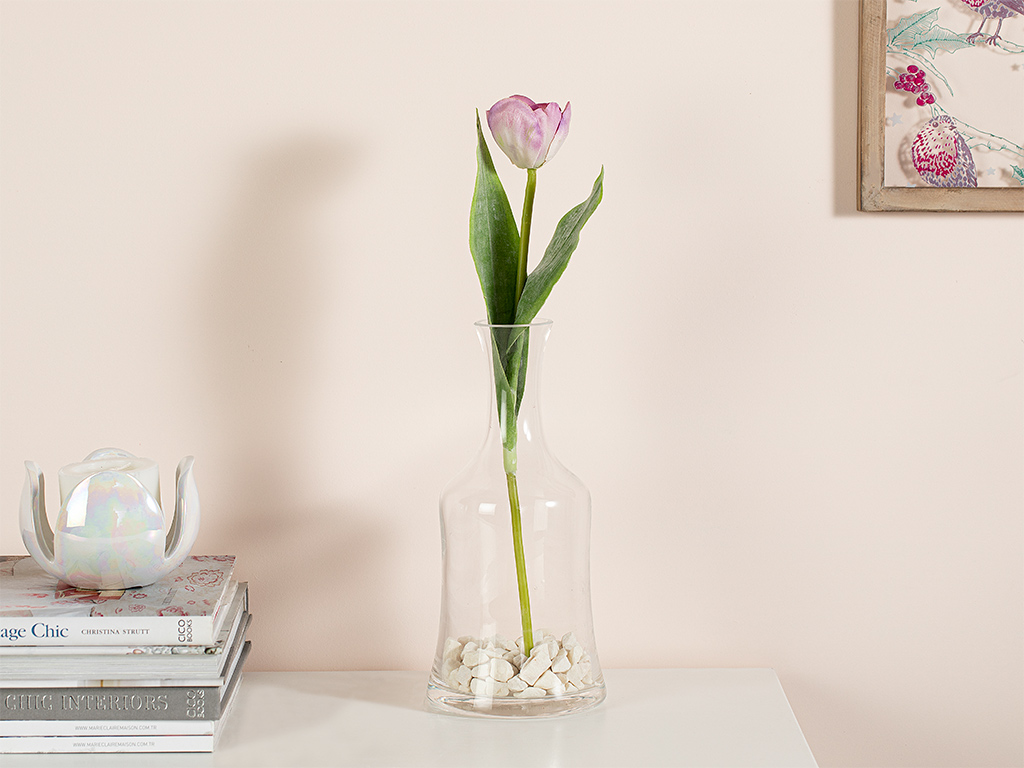 Ragged Orchid Fabric Artificial Flower 39 Cm Pink