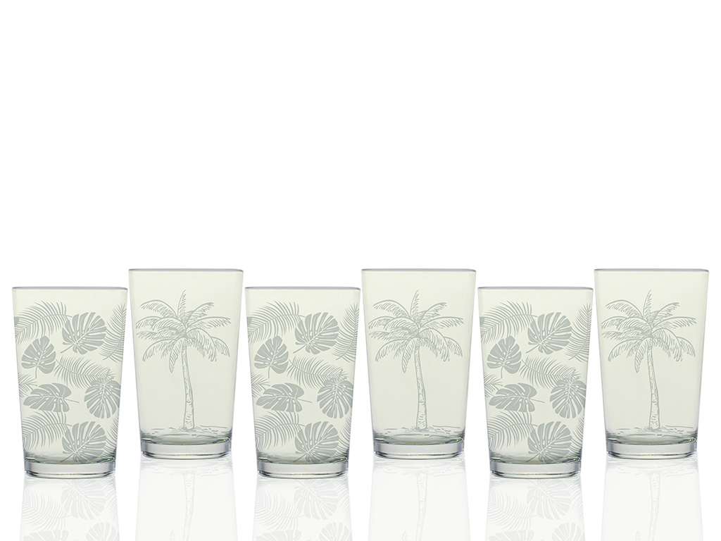 Palm Water Glass 100 ml Green