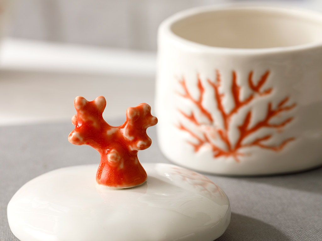 Living Corals Decorative Box 7,5x7,5x9,5 Cm Orange