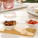 Mia Bamboo Appetizers 3 Piece 8,5x2,6 Cm Beige