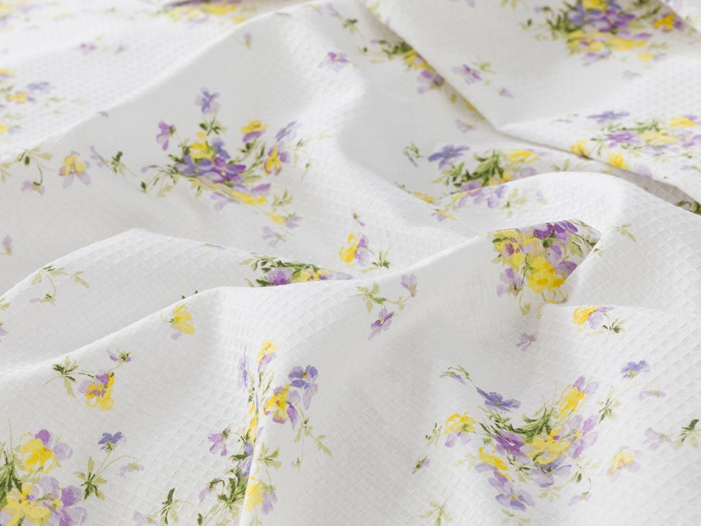 Cosmos Summer Blanket Double Size 200x220 Cm Light Violet