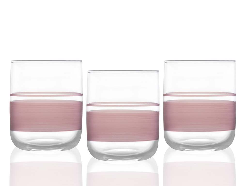 Band Juice Glass 270 ml Pink