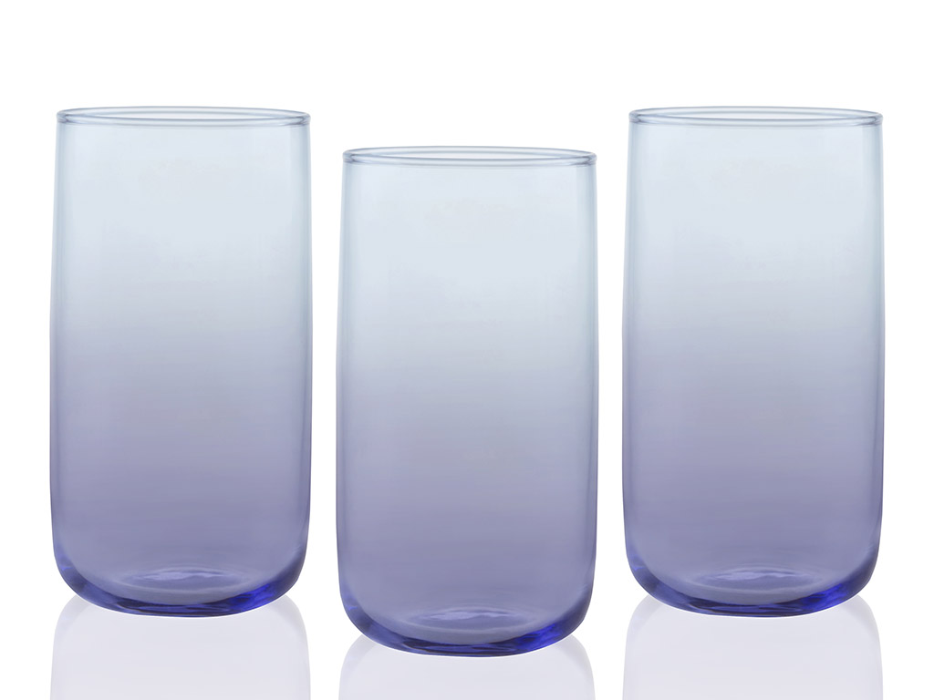 Degetto Juice Glass 3 Piece 365 Ml Purple-Blue