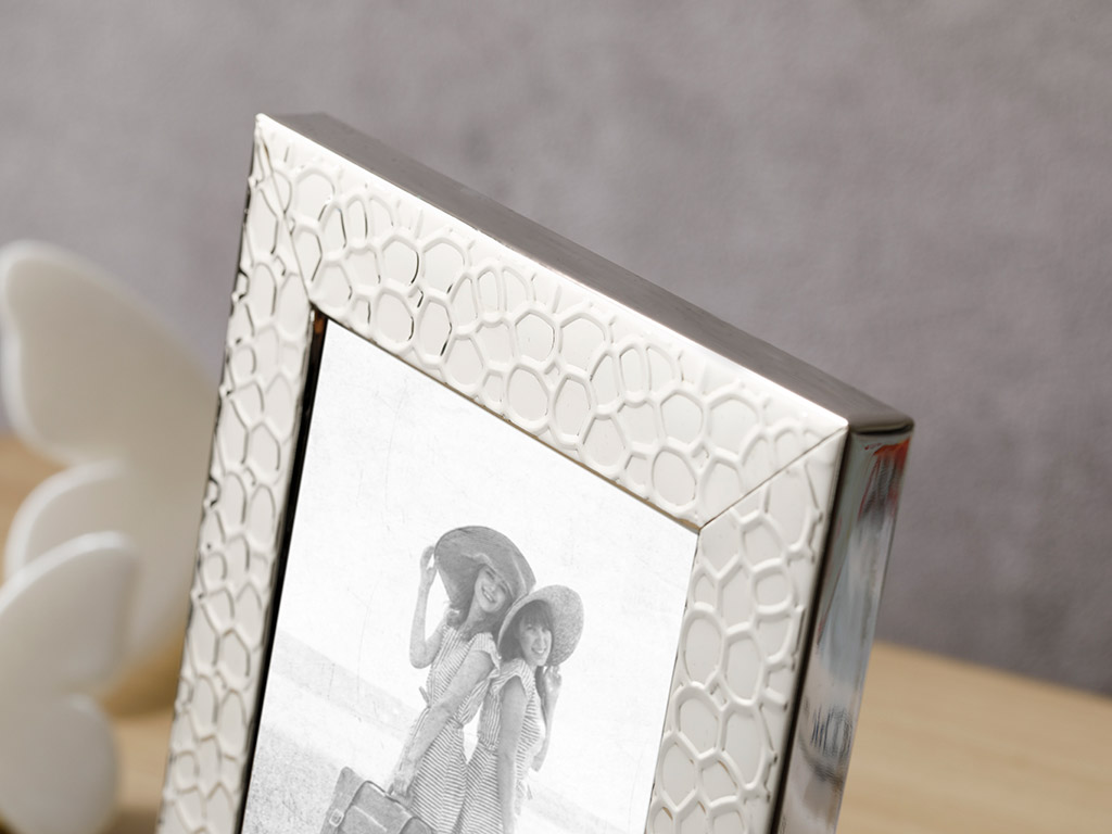 Lace Frame 10x15 Cm Silver