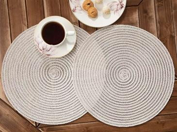 Mary Place Mat 2 Piece 38 Cm Gray
