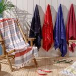 Chic Damask Jacquard Beach Towel 80x150 Cm Royal
