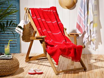 Seaside Pes Striped Beach Towel 70x150 Cm Red