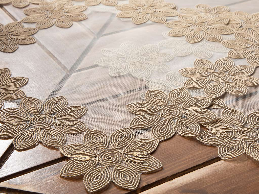 Pure Coffee 3 Piece Table Cover 33x33 Cm Beige