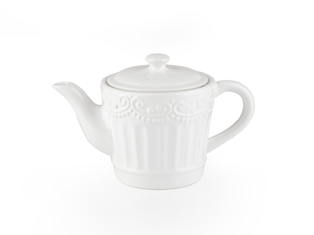 Pony Dolomite Tea Pot 23x13x14 Cm White