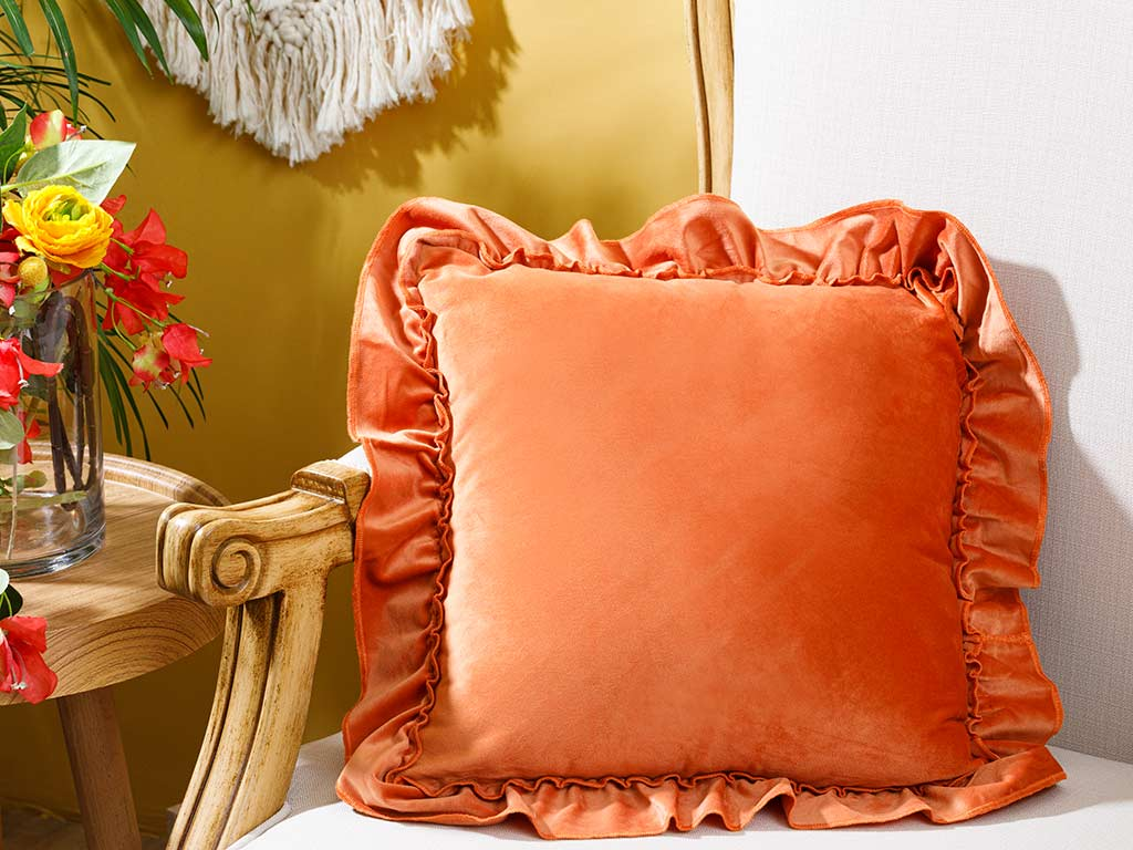 Boho Chic Cushion Cover 45x45 Cm Orange