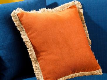 Shabby Chic Cushion Cover 45x45 Cm Orange