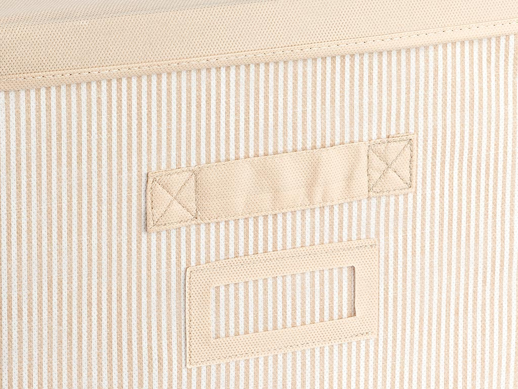 Royal Stripe Polypropilen Storage Box 30x30x20 Cm Beige