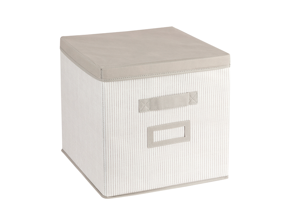 Royal Stripe Polypropilen Storage Box 30x30x20 Cm Gray