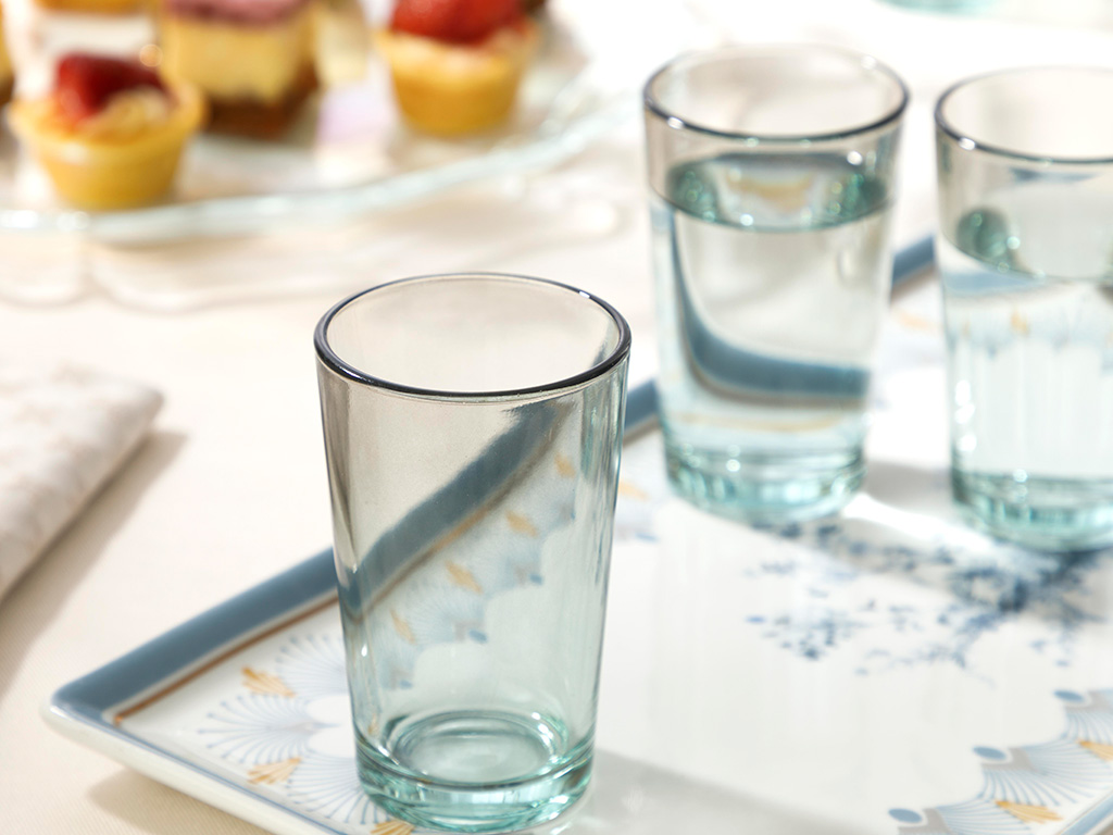 Degetto Water Glass 100 ml Green-Brown
