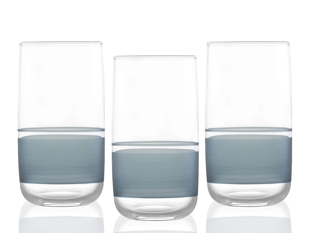 Band Juıce Glass 3 Piece 365 Ml Seledon