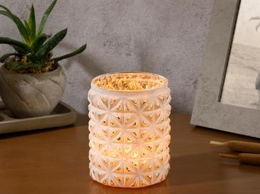 Paisley Charm Candle Hold, Cream, 7X9 cm