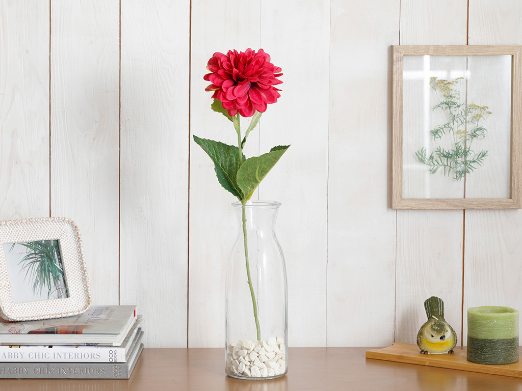 Dahlia Artificial Flower 53 Cm Dusty Rose