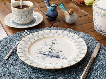 Tual New Bone Cake Plate 20 Cm Blue