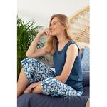 Batik Viscon Women's Pajamas Set M Navy Blue