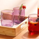 Stery Juice Glass 3 Piece 270 Ml Purple