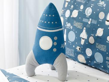 Space Decorative Pillow 36x19 Blue