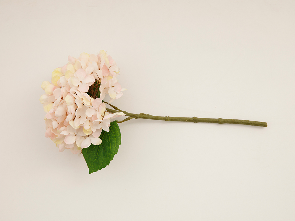 Hydrangea Fabric Artificial Flower 33 Cm Light Pink