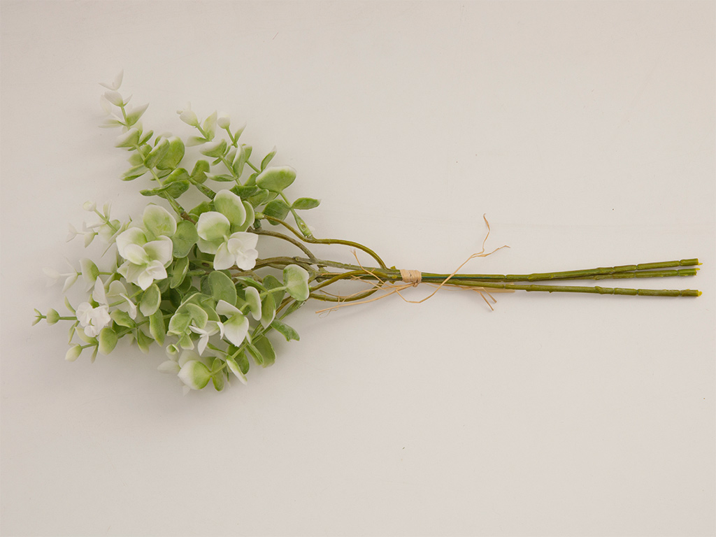 Honewort Fabric Artificial Flower 36 Cm White-Green