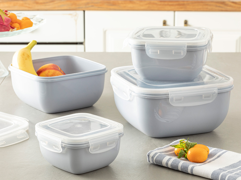 Stella Storage Box 2400 Ml Gray