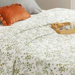 Nature Printed Double Person Summer Blanket 200x220 Cm. Green