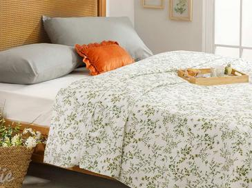 Nature Summer Blanket Double Size 200x220 Cm Green