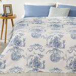 Ancient Age Printed Double Person Summer Blanket 200x220 Cm. Blue