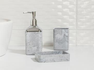 Marble Crystal Bathroom Set 3 Piece Gray