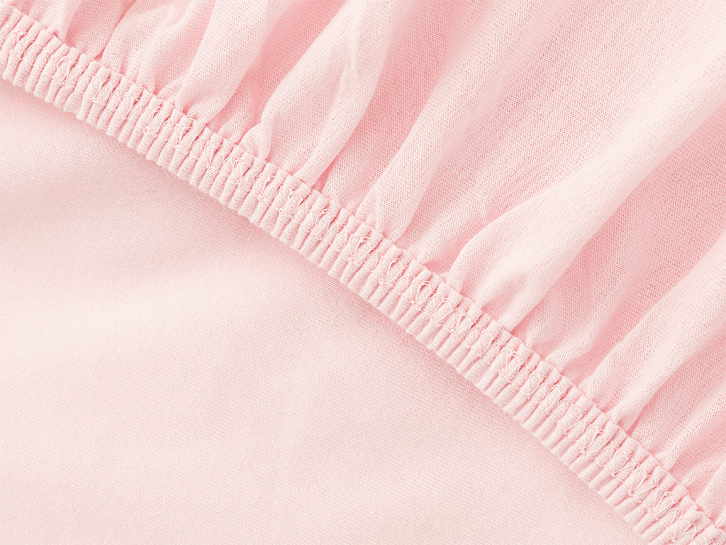 Plain Fitted Bed Sheet Set Double Size160x200 Cm Pink