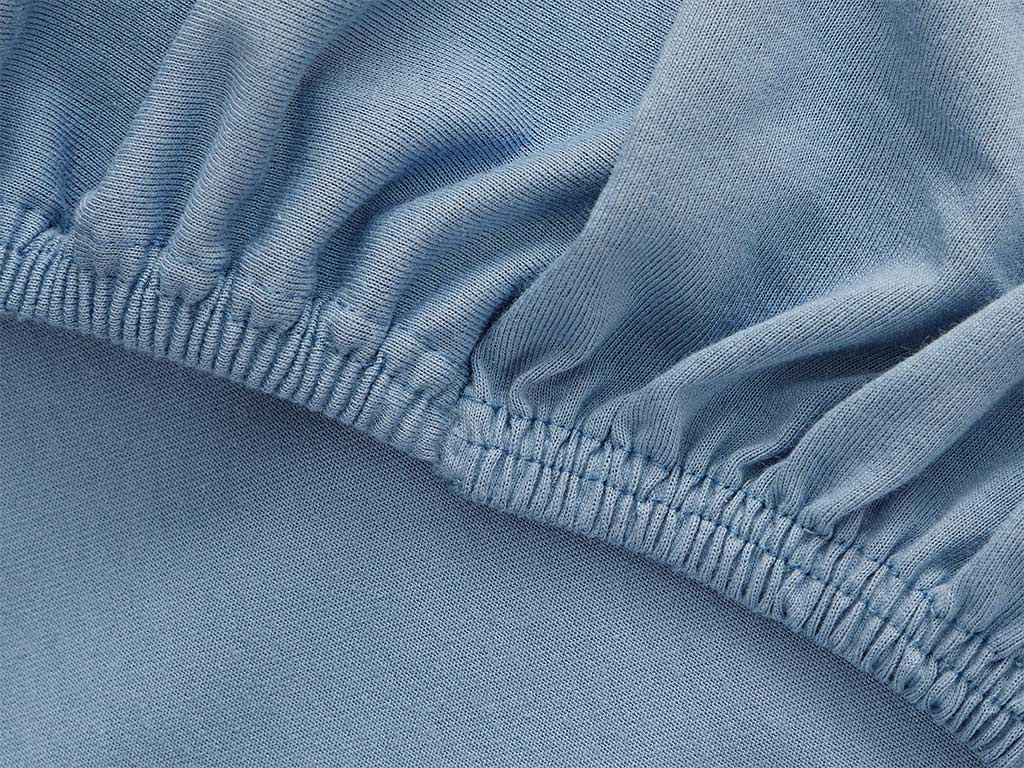 Plain Fitted Bed Sheet Set Single Size 100x200 Cm Blue