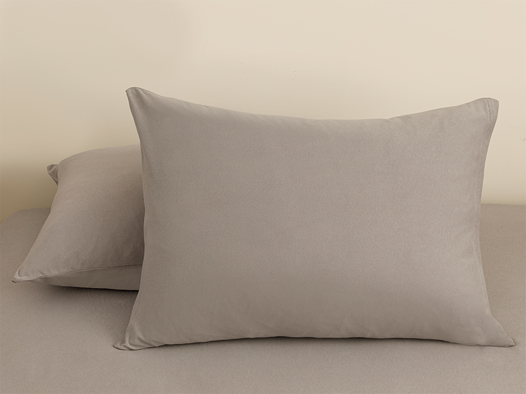Plain Fitted Bed Sheet Set Double Size 160x200 Cm Gray