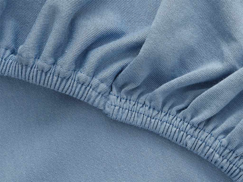 Plain Fitted Bed Sheet Set King Size 180x200 Cm Blue
