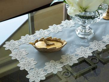 Pure Coffee Table Cover 3 Piece 33x33 Cm White