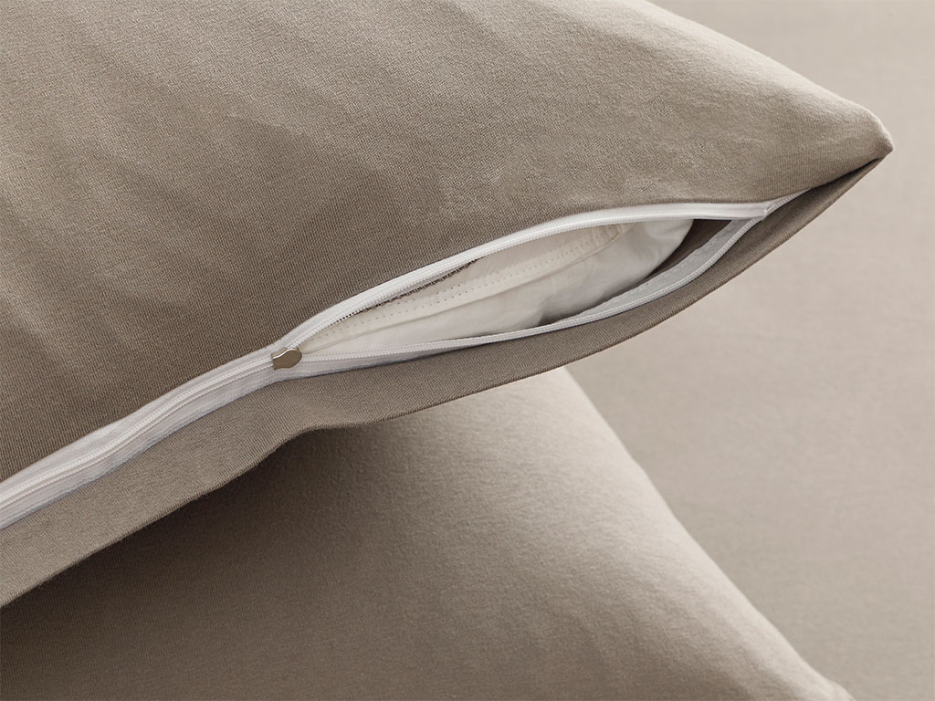 Plain Fitted Bad Sheet Set Single Size 100x200 Cm Gray