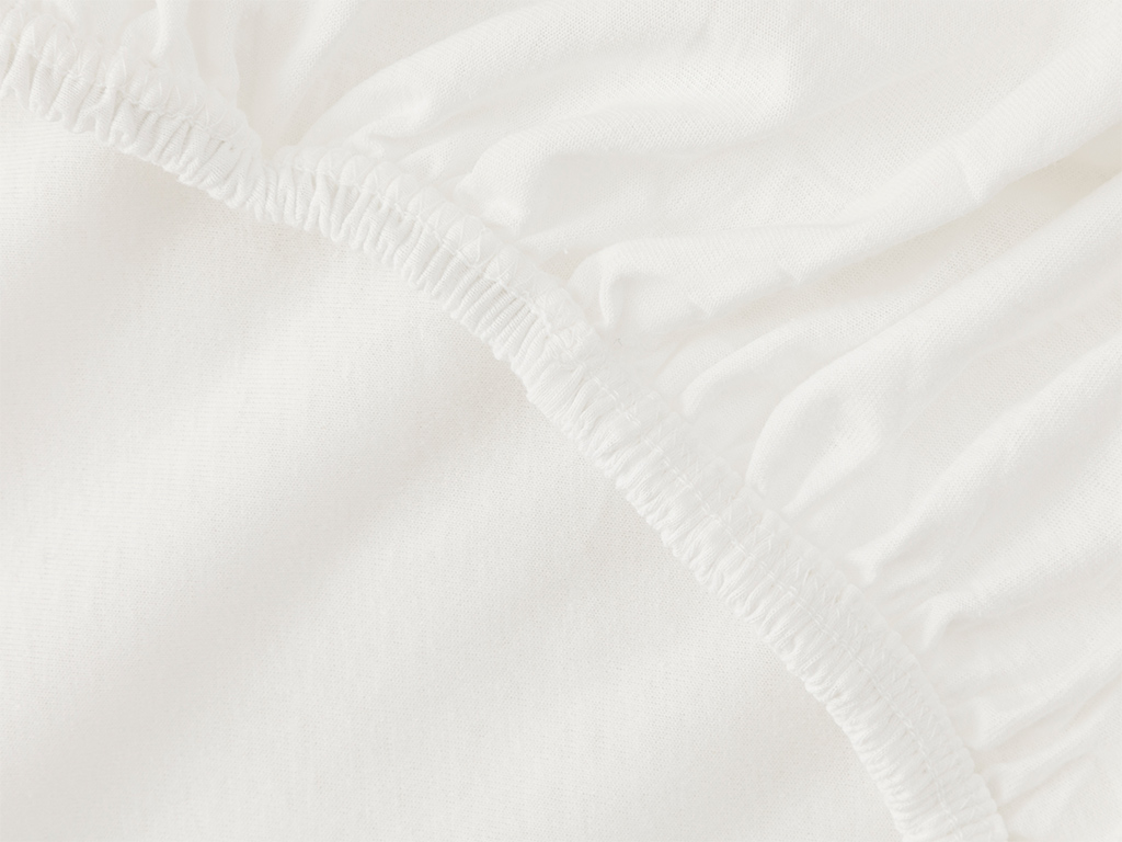 Plain Fitted Bed Sheet Set King Size 180x200 Cm White
