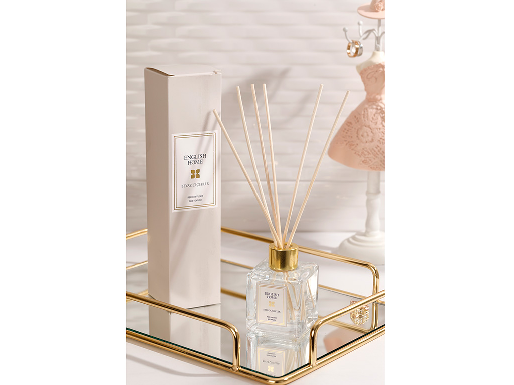 White Flowers Reed Diffuser 100 Ml Beige