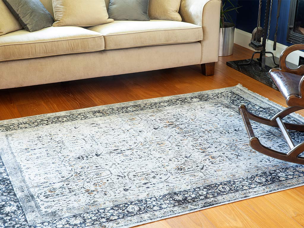 Silk Touch Mila Velvet Carpet 120x180 Cm Gray