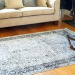 Silk Touch Mila Velvet Carpet 160x230 Cm Gray