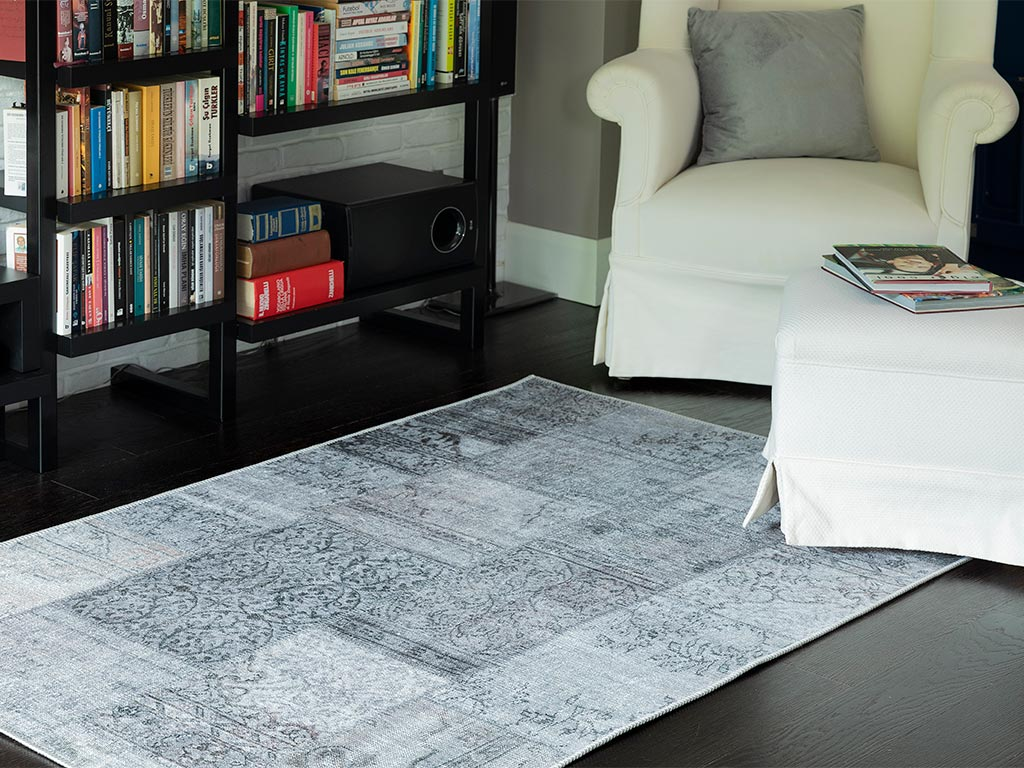 Gaynor Patchwork Carpet 120x180 Cm Gray